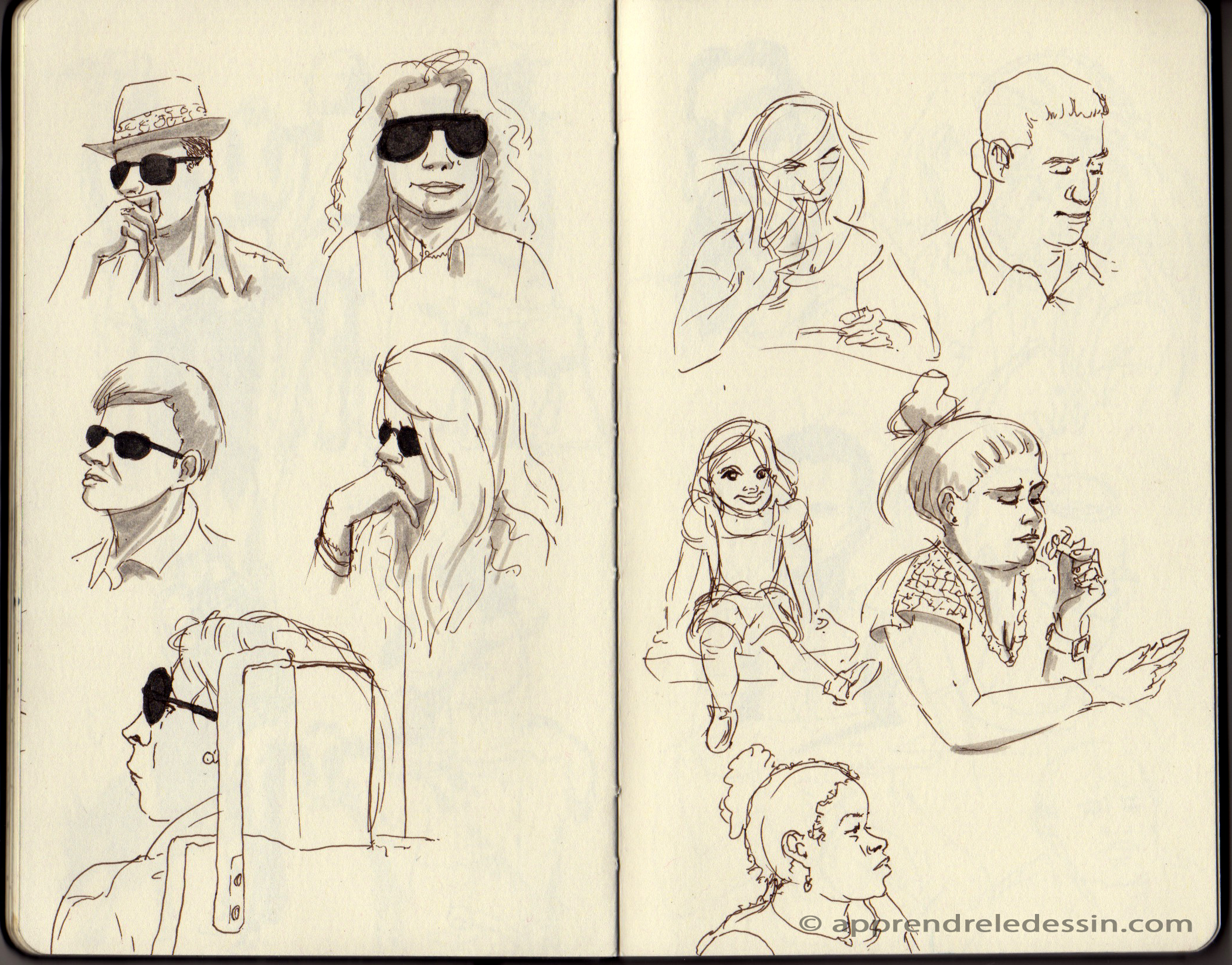 Croquis_dessiner_visages 1