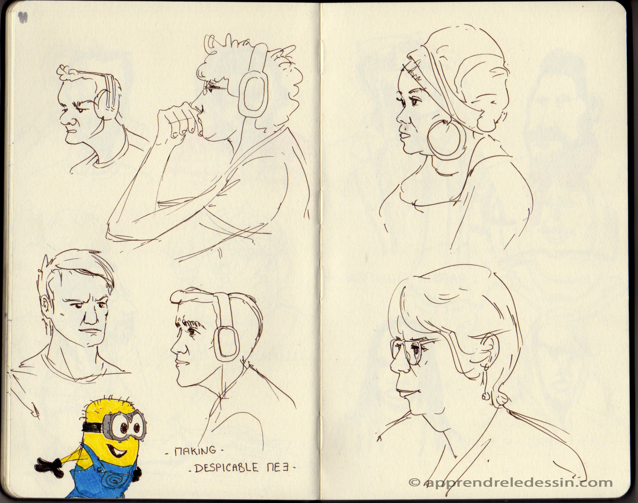Croquis_dessiner_visages 4